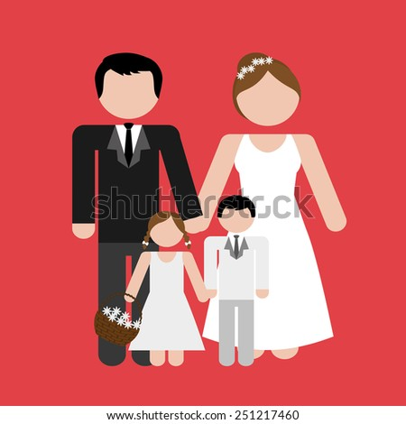 family silhouette design, vector illustration eps10 graphic