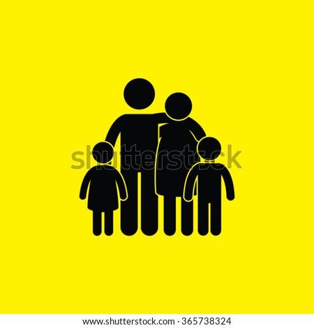 Family Single Icon. Family. - stock vector