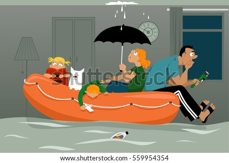 House Roof Leaking leaking roof stock images, royalty-free images & vectors