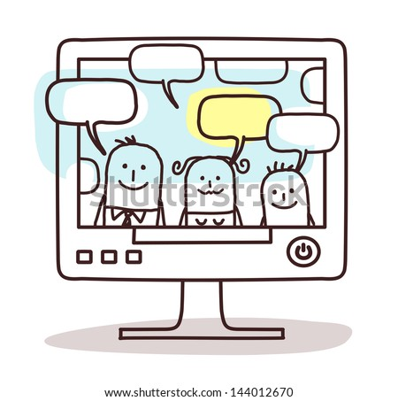 family & social network - stock vector