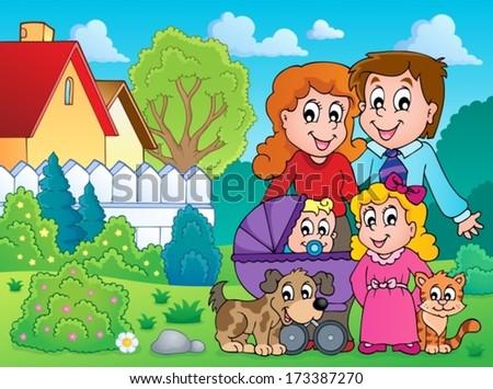 Family theme image 4 - eps10 vector illustration. - stock vector