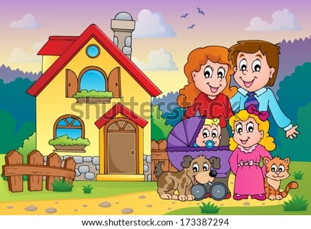 Family theme image 5 - eps10 vector illustration. - stock vector