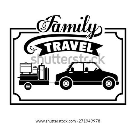 Family travel  design over white background, vector illustration - stock vector