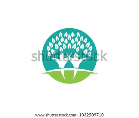 Family Tree Symbol Icon Logo Design Stock Vector 1032509710