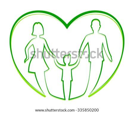 Family unity - stock vector