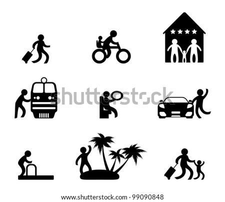 Family vacation - stock vector