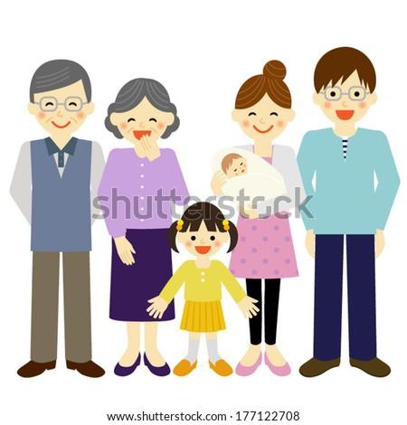 family / Vector EPS 10 illustration - stock vector