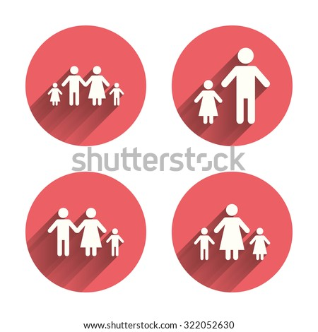 Family Two Children Icon Parents Kids Stock Vector 322052630