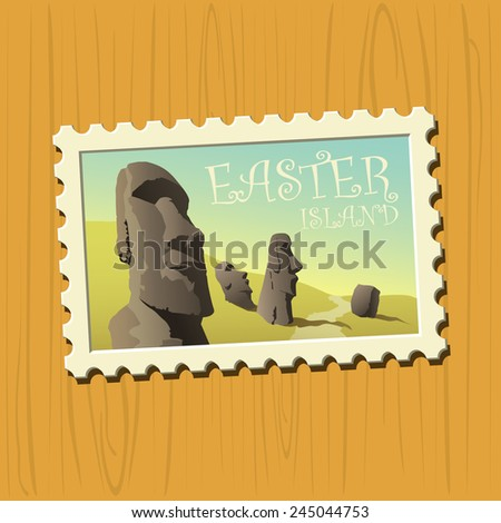 Famous destination stamps - Easter Island