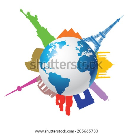 Famous place on earth - stock vector