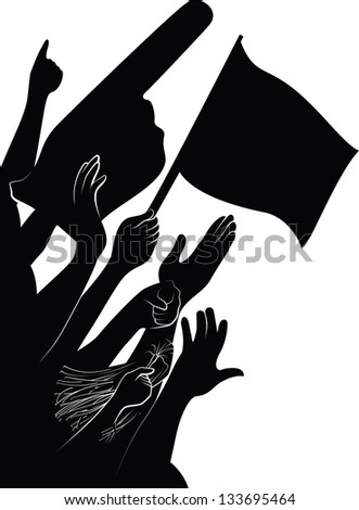 Fan Arms - stock vector