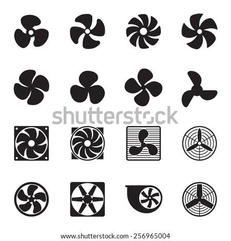 Fan icons. Vector illustration - stock vector