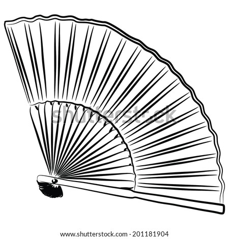 fan isolated on white background  - stock vector