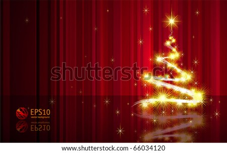fancy christmas sparkling tree decorative vector card template - Fancy Christmas Trees