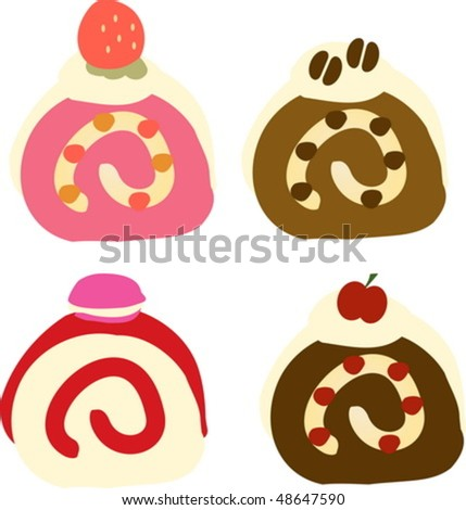 Fancy cupcakes frosted with sprinkles and strawberry vector - stock vector