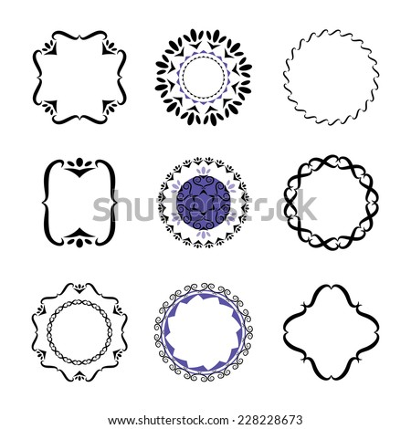 Victorian Design Elements fancy design elements vector black white stock vector 228228673