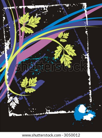 Fancy floral grunge background. Check my portfolio for more of this series as well as thousands of other great vector items.