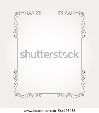border frame fancy. Fancy Frame Border And Page Ornament. Decorative Design Element. Vector Illustration T