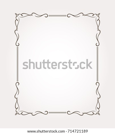 Fancy Frame Border Page Ornament Decorative Stock Vector HD Royalty