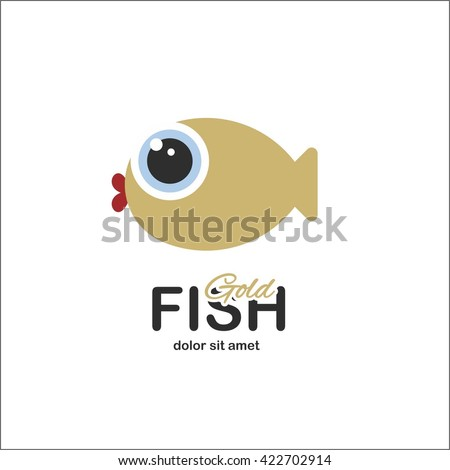 Fanny fish logo - stock vector