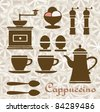 Fantasia on a Theme of coffee and breakfast. Can be used as a menu. - stock photo