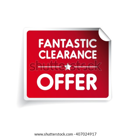 Fantastic clearance offer label vector