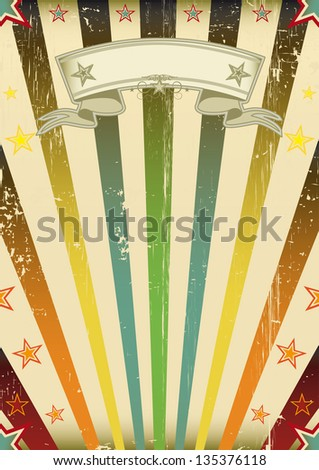 Fantastic color sun party. A vintage background with a texture for your party - stock vector