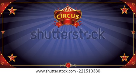 Fantastic night circus. A circus greeting card with a sign  in the night for your entertainment. - stock vector