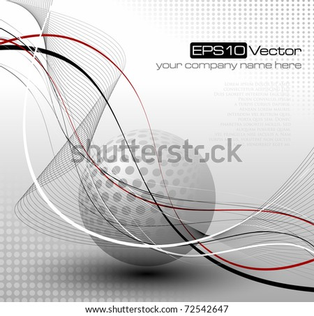 Fantasy abstract background - vector illustration