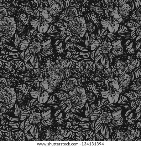 Fantasy abstract floral seamless pattern. - stock vector