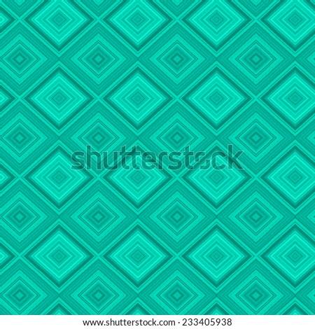 Fantasy blue geometric seamless pattern.Backdrop of rhombuses.  - stock vector