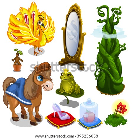 Fantasy characters from fairy tales. Vector illustration. - stock vector