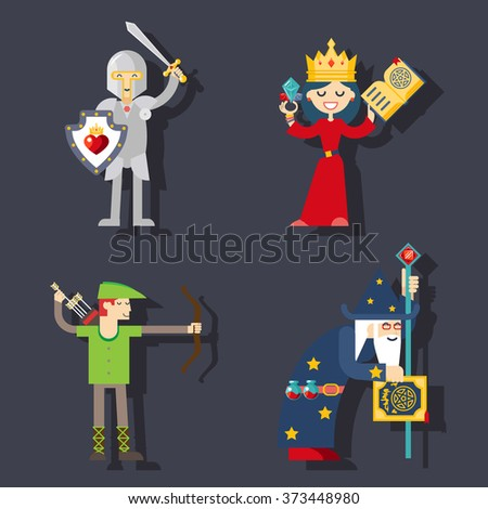 Fantasy characters hero - stock vector