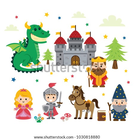 fantasy fairy tale clipart different characters stock photo photo rh shutterstock com fairy tale characters clipart fairy tail clipart black and white