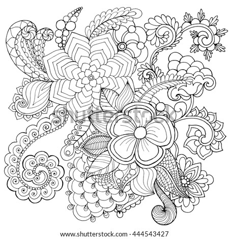 Burgeon stock photos royalty free images vectors for Coloring pages with lots of detail