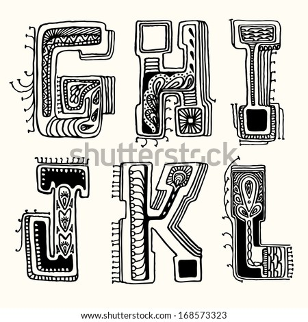 Old English Letters Lowercase Template on cut out, stencils free printable,