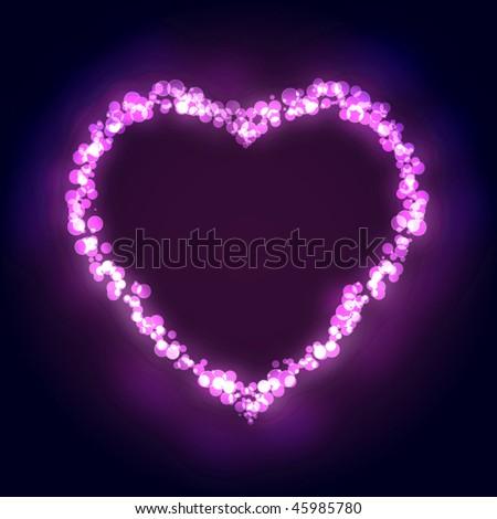 Fantasy heart background. Vector illustration - stock vector