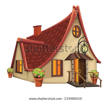 Fantasy House - stock vector
