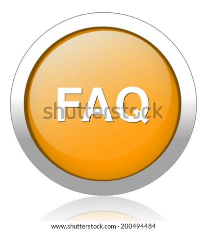 FAQ button - stock vector
