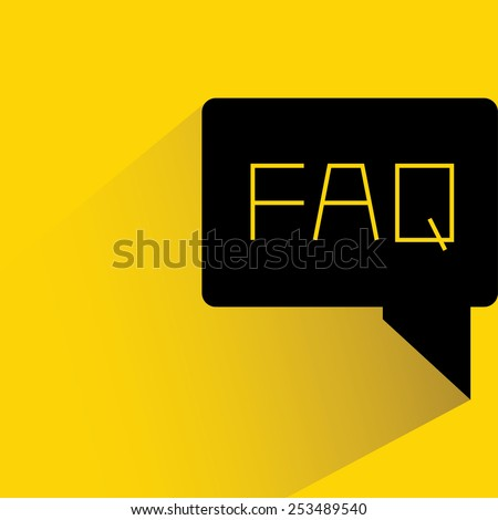 FAQ, frequently ask question  - stock vector