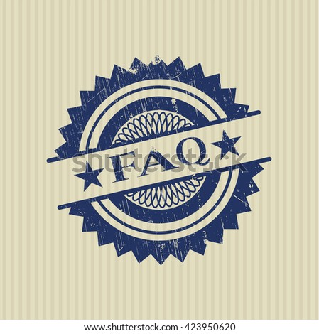 FAQ rubber stamp - stock vector
