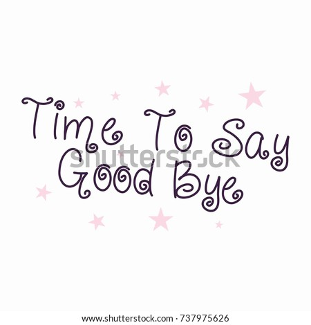 Farewell Card All Best Template Stock Vector