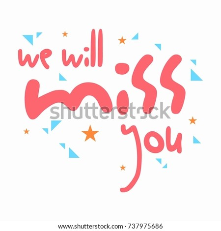 Farewell Card All Best Template Stock Vector   Shutterstock