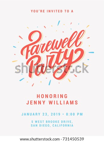 Great Farewell Party Invitation.