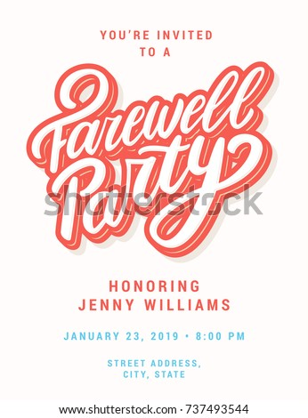 Farewell party stock images royalty free images vectors farewell party invitation template stopboris Gallery