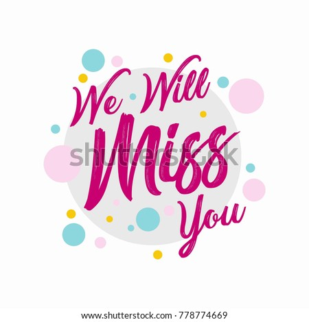 Farewell party template we will miss stock vector 778774669 farewell party template we will miss you party invitation card design stopboris Image collections