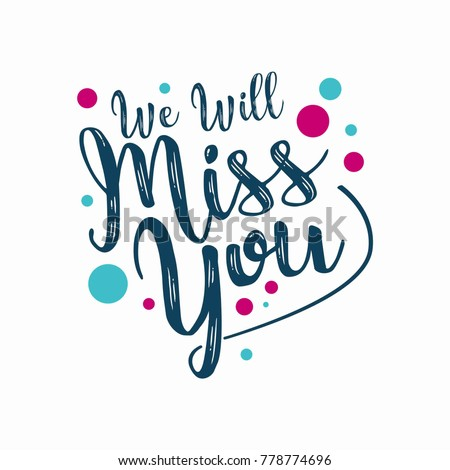 Farewell party template we will miss em vetor stock 778774696 farewell party template we will miss you party invitation card design stopboris Choice Image
