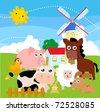 farm animal - stock vector