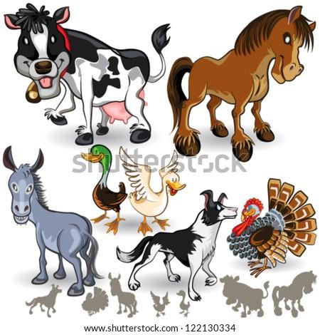Farm Animals Collection Set 02 - stock vector