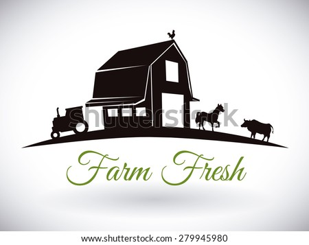 Farm design over white background, vector illustration. - stock vector